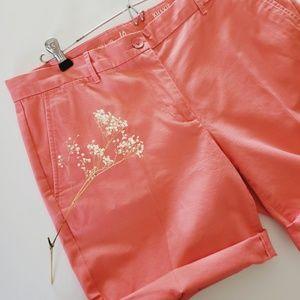 GAP Boyfriend Roll-Up Shorts Fresh Coral